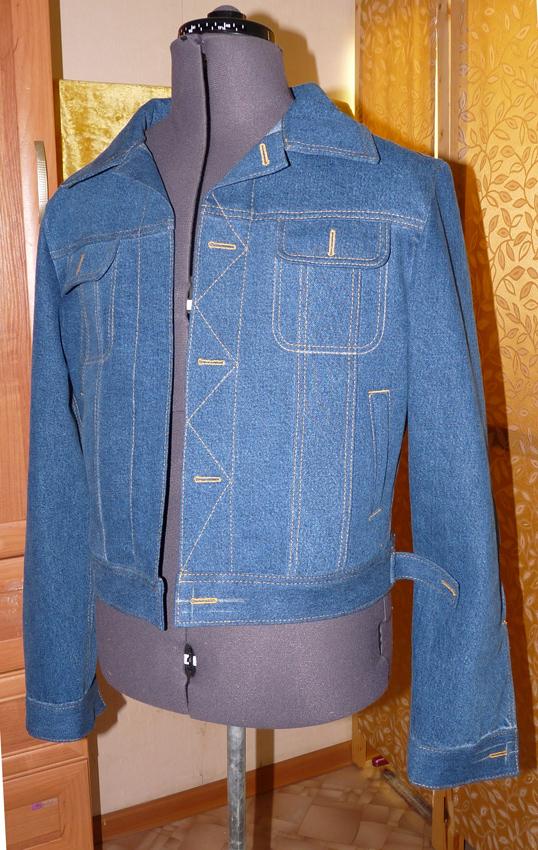 Пошить джинсовый пиджак